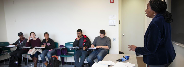 Professor teaching a FWS