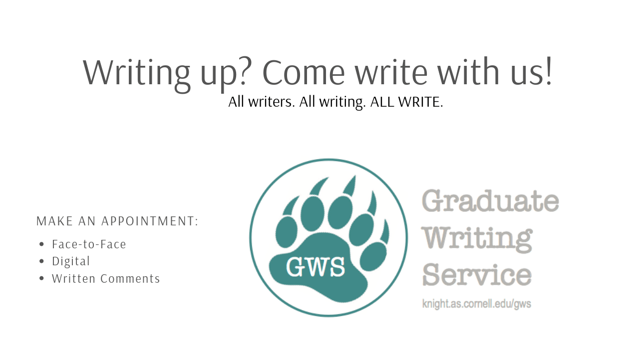 Teal Bearprint with Graduate Writing Service logo in the center
