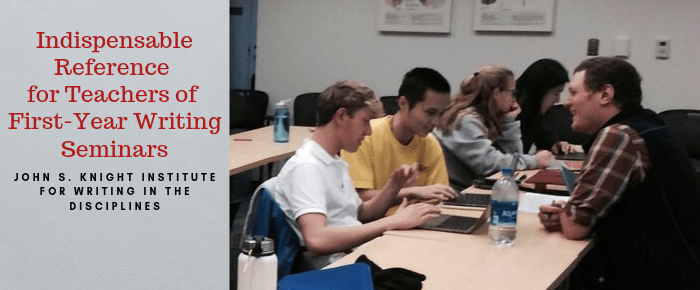 Students in a First-Year Writing Seminar